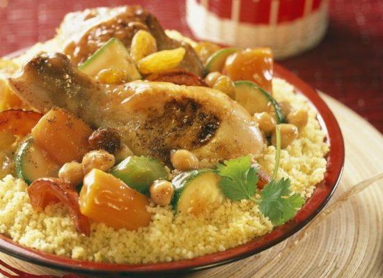 Couscous de poulet aux légume